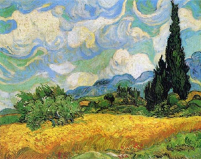 Van Gogh, Wheat Field with Cypress Tree