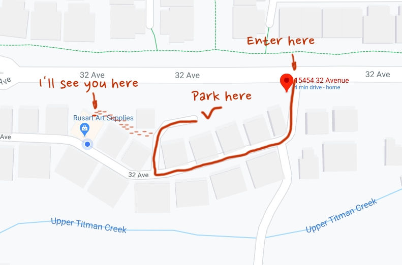 Parking Map, Rusart South Surrey