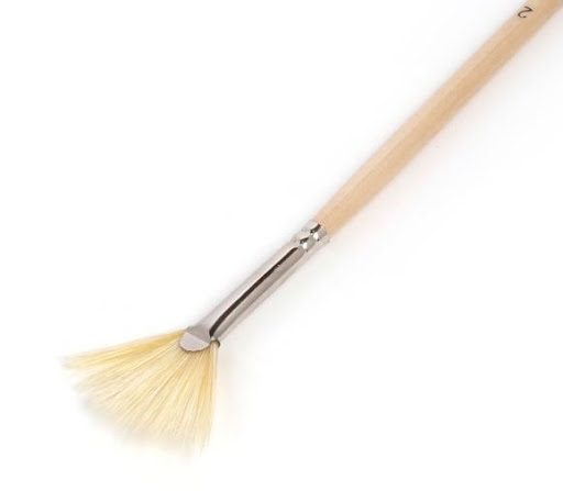 Fan Hog Bristle Brush